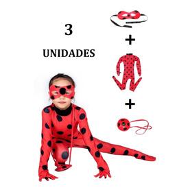 Disfraz Ladybug + Antifaz + Bolso Miraculous