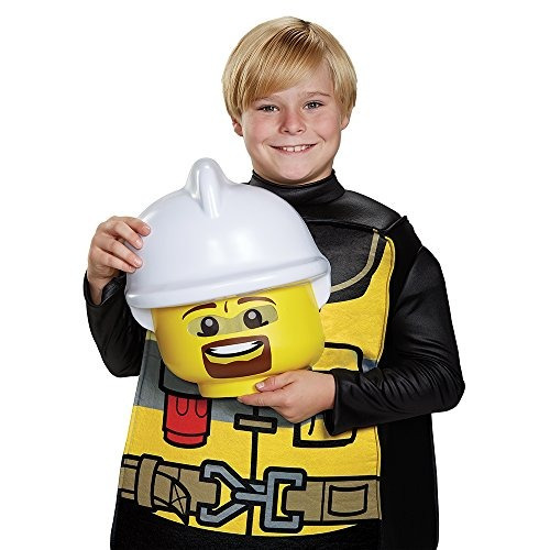 disfraz lego firefighter deluxe, negro /amarillo, medio