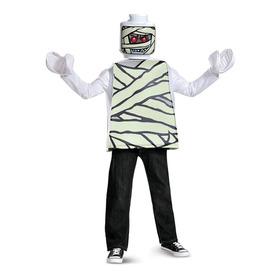 Disfraz Lego Momia Niños De 4 A 6 Años Halloween Nuevo