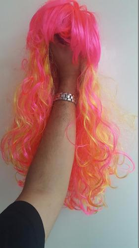 disfraz mascara peluca rosa gogo dancer sensual sexy pink
