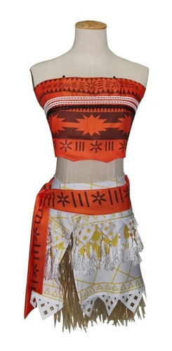 disfraz moana con collar amuleto envío gratis