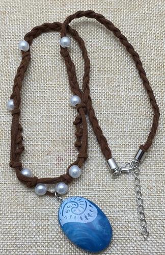 disfraz moana con collar amuleto importado unico en chile