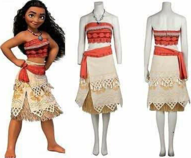 Disfraz Moana Disney Niña Vestido Halloween Fiesta Nina