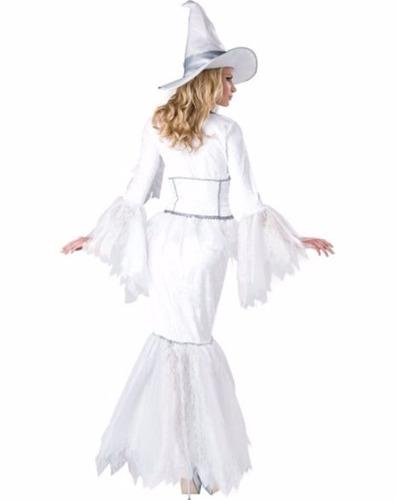 disfraz mujer bruja sexy blanca halloween dia brujas