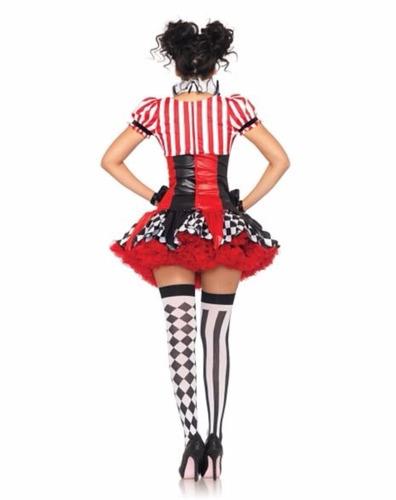 disfraz mujer harlequin payaso traje arlequin halloween