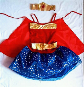 Disfraz Mujer Maravilla Wonder Woman Super Girl Batichica