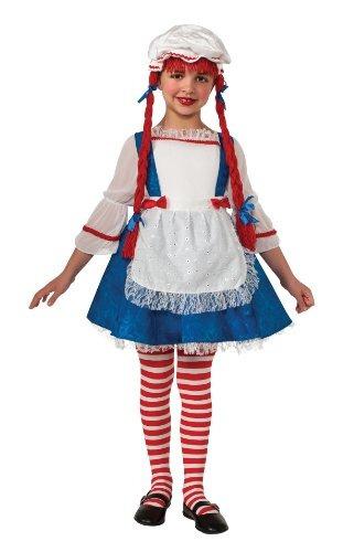 disfraz muñeca de trapo para niña talla s