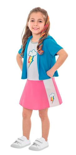 disfraz my little pony pinkie pie rainbow dash peluca acc.