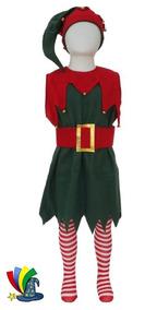 8a1c03783 Disfraz Navidad Duende Niña Pastorela Festival Escolar