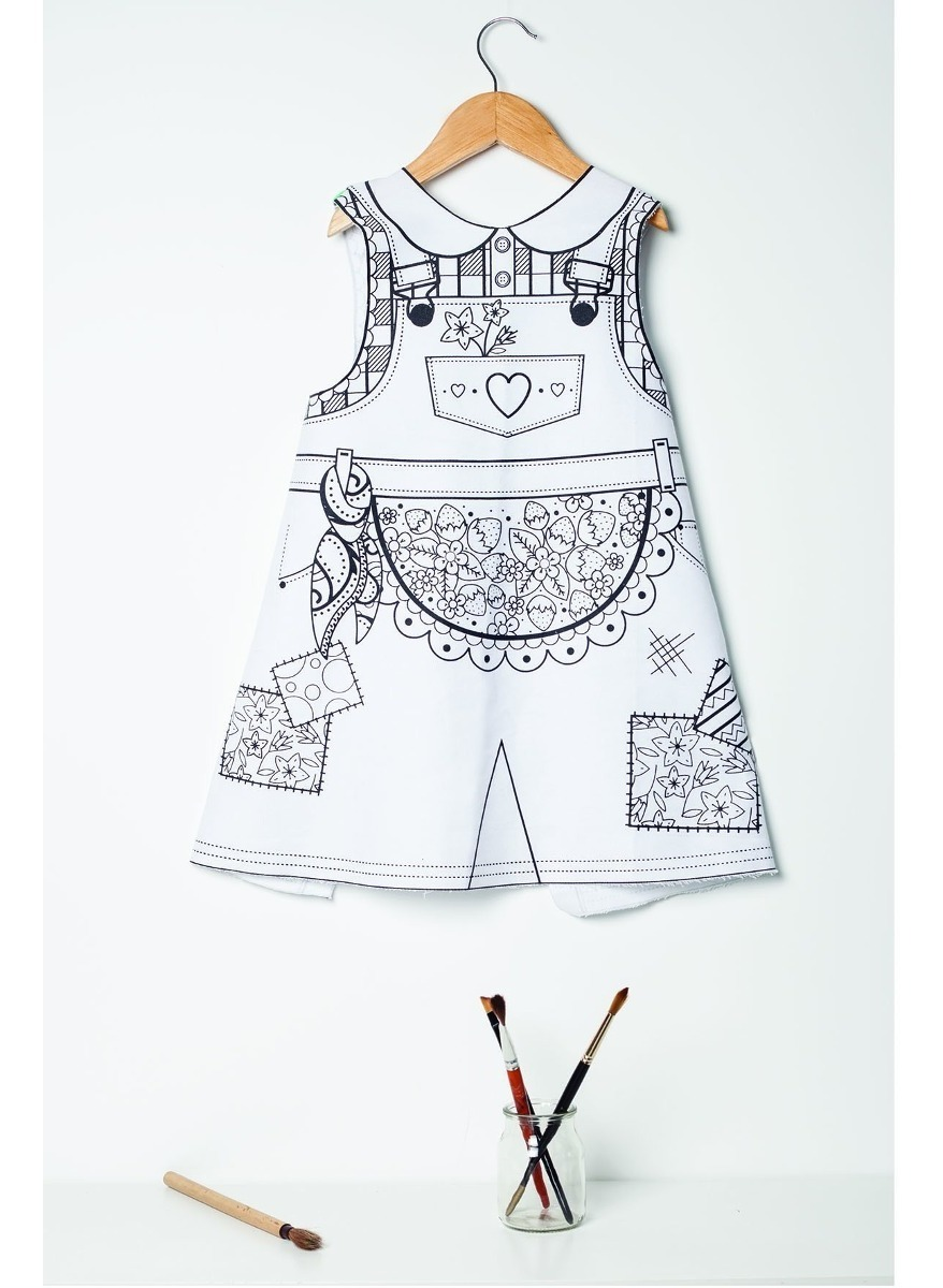 Disfraz Nenas Vestido Para Pintar Vestido De Jardinera