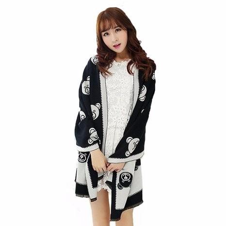 disfraz new fashion scarf large soft cashmere bear scarf