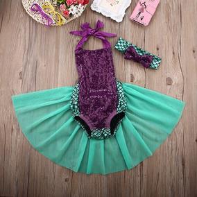 Disfraz Niña Bebe La Sirenita Pañalero Ariel