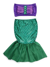 Disfraz Niña La Sirenita Ariel Envio Gratis Sin Peluca