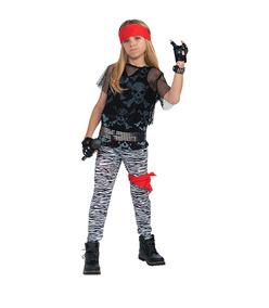867c5da2d Disfraz Niño Estrella De Rock De Los 80s 4 A 12 Años