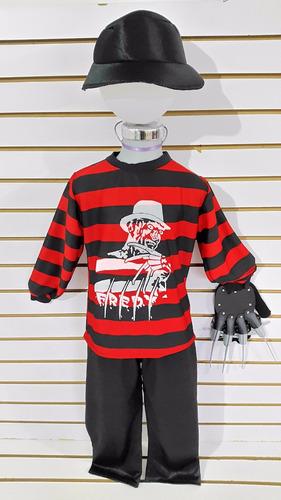 disfraz niño freddy krueger halloween brujas muertos