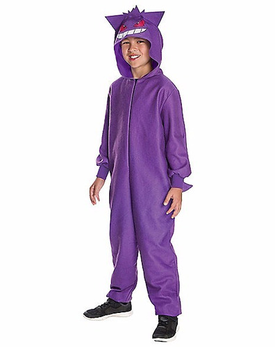 disfraz niño gengar pokemon traje pijama halloween