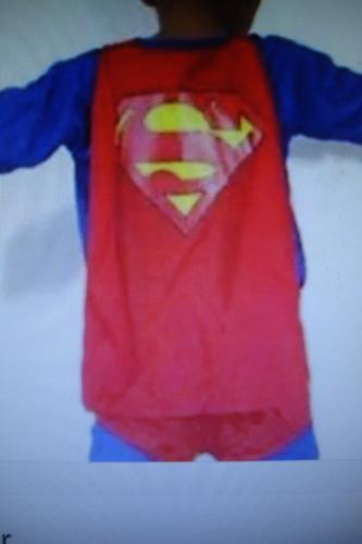 disfraz niño. superman con capa. talla 10 excelente calidad.