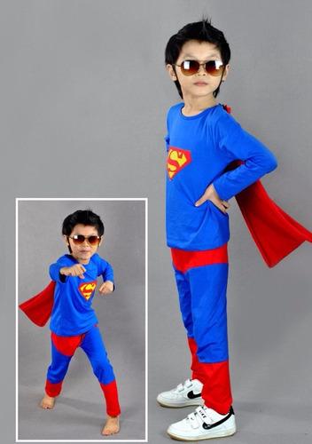disfraz niño superman con capa (tallas)