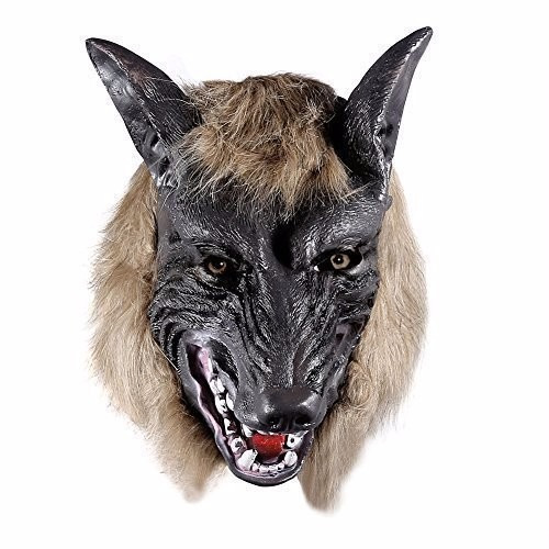 disfraz onedone wolf head mask for halloween and cosplay