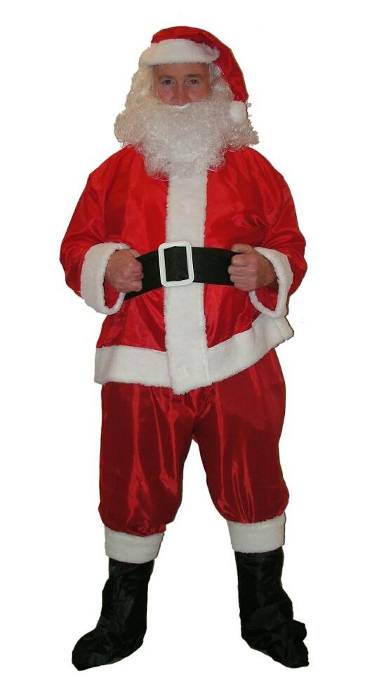 06d0f18039a98 disfraz papa noel traje de raso barba santa claus - navidad. Cargando zoom.