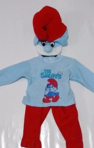 disfraz papa pitufo  para niños talla única 1