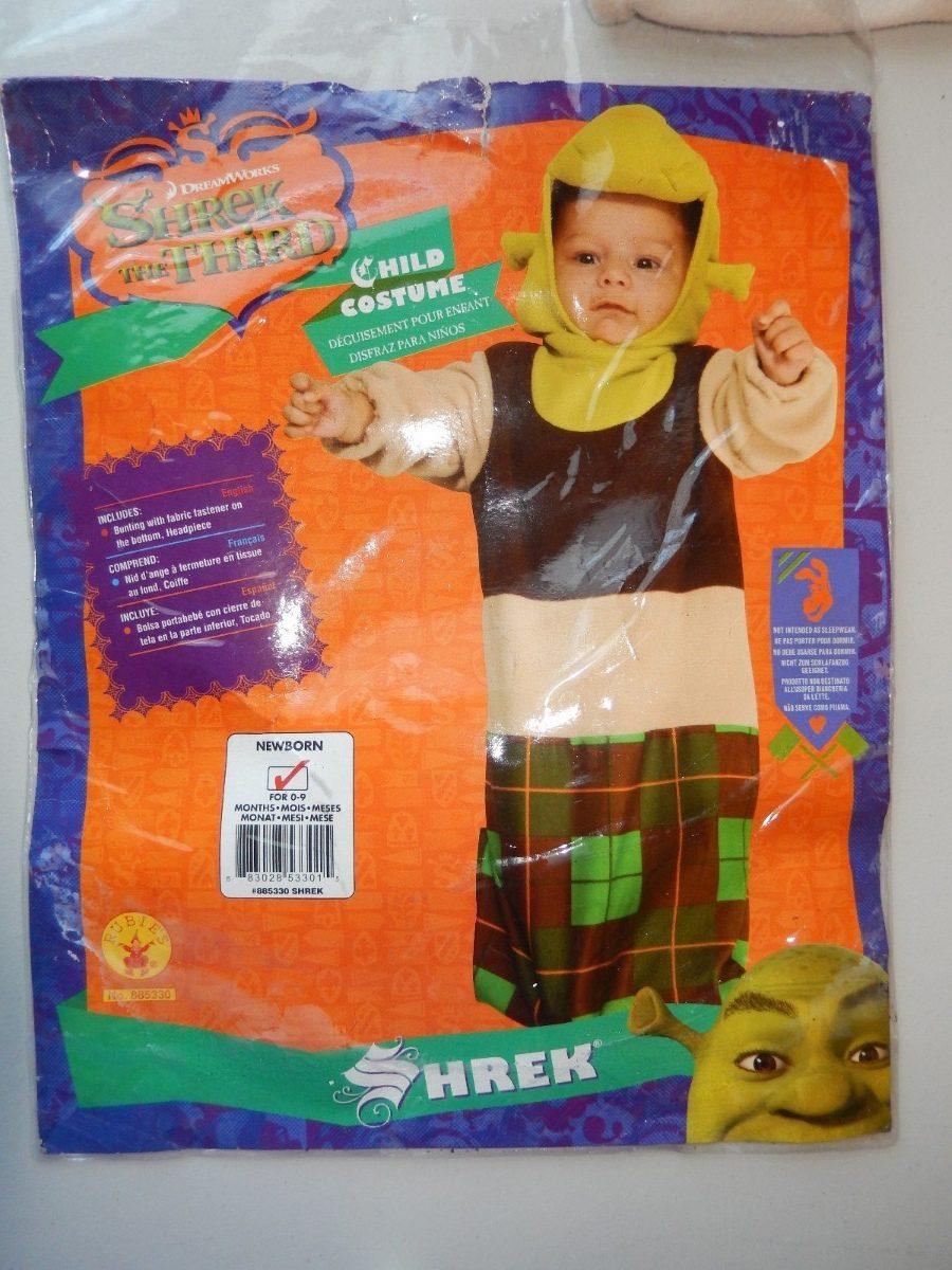 disfraz para bebe nio shrek tercero costalito para el frio