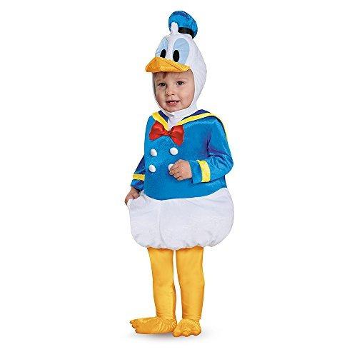 disfraz para bebés donald duck prestige traje infantil, azu