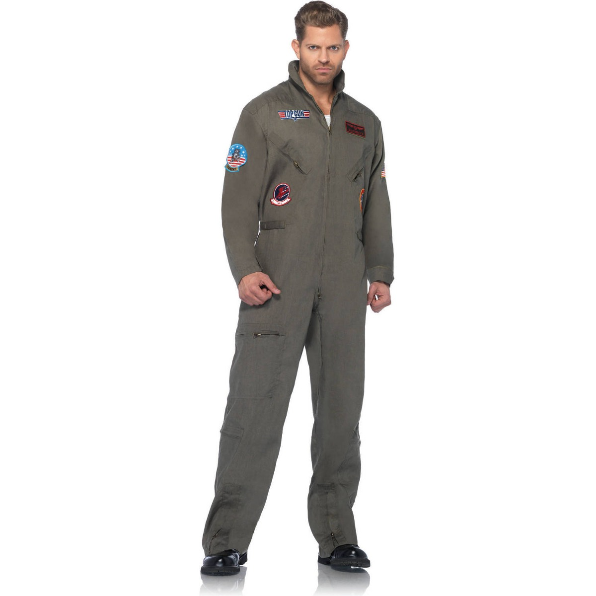 Disfraz Para Hombre Traje De Vuelo Top Gun cb30e2f9cc79