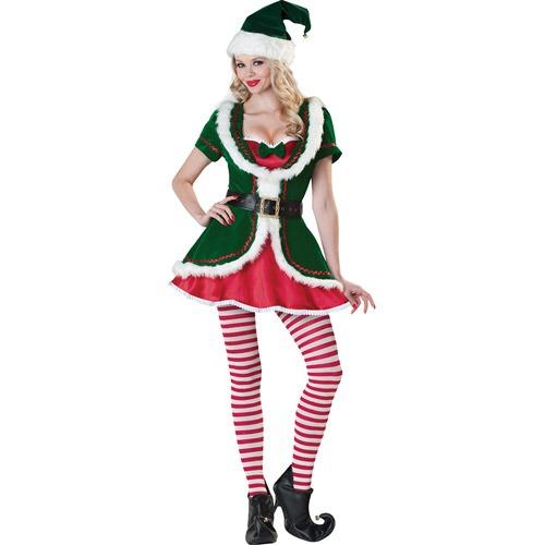 eb3cd196843a8 Para De Duende Talla Disfraz Navidad Large Mujer d4wdaU