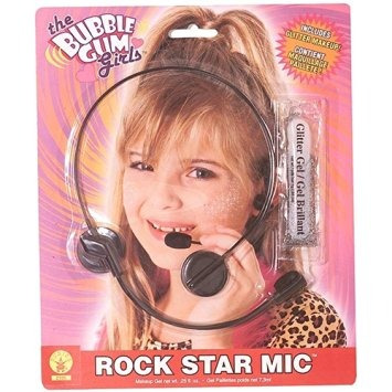 disfraz para niña estrella del rock por la cabeza conjunto