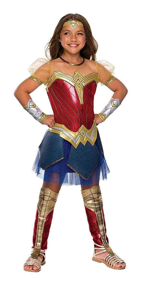 Disfraz Para Niña Mujer Maravilla Talla Small - Halloween ... 66812da8136