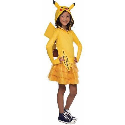 Disfraz Para Niña Pikachu Pokémon Con Capucha Talla M - -   3.216 2ba0916b531a