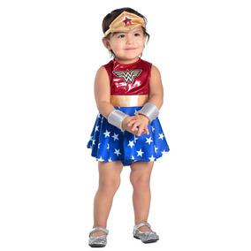 Disfraz Para Niña Vestido Mujer Maravilla Talla 12 18
