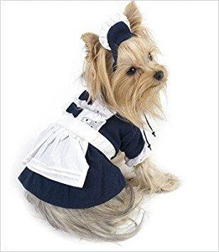 disfraz para perro el traje francés de la criada para los p