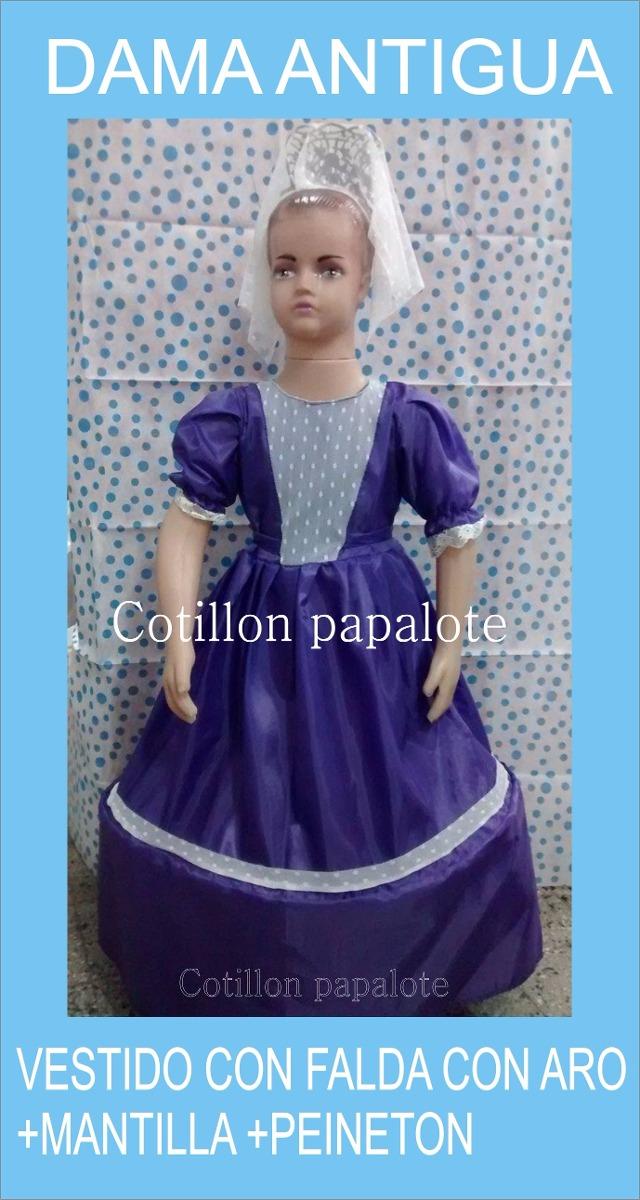 Disfraz Patrio Dama Antigua Peineton Mantilla Talle4/6/8/10 - $ 340 ...