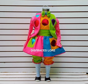 Disfraz Payasa Disfraces Payasita Niña Mallas Calzonera Saco