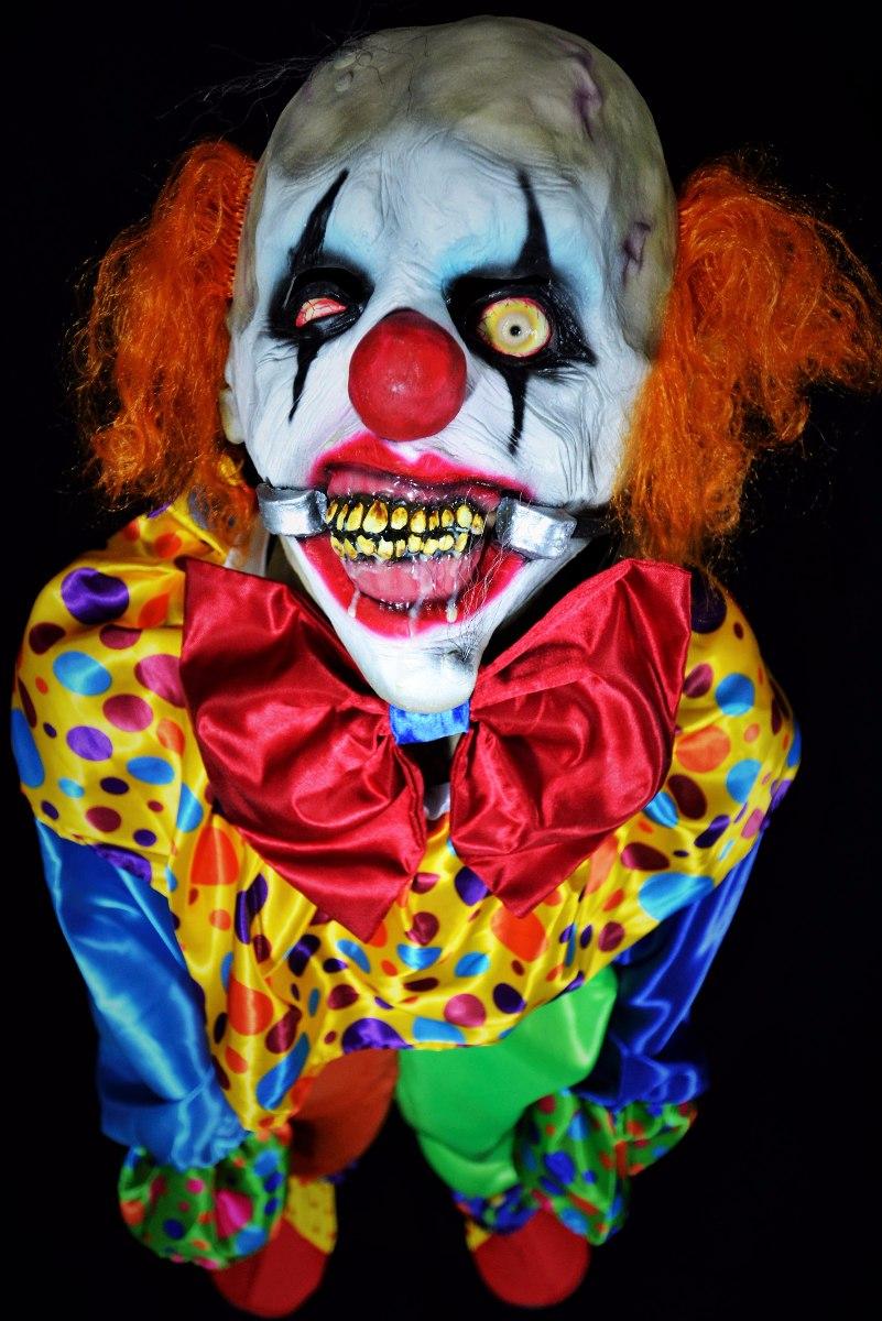 Disfraz payaso halloween terror mascara realista smiley - Mascaras de terror ...