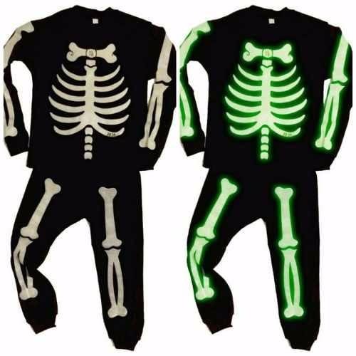 disfraz pijama niños esqueleto brillante divertido t 2 al 14