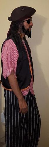 disfraz pirata pantalon sin chaleco sin playera sin sobrero