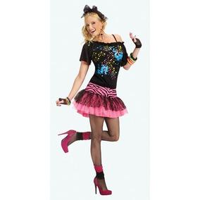 Disfraz Pop Anos 80 Para Mujer Talla S M Halloween