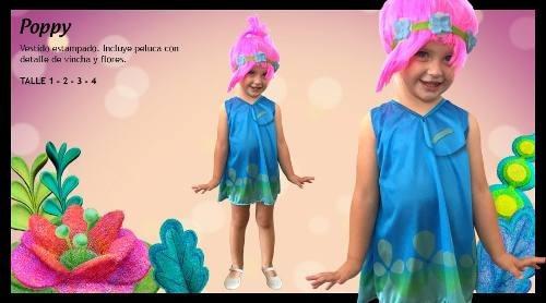 disfraz poppy de trolls talle: 2 disfraces candela 41102