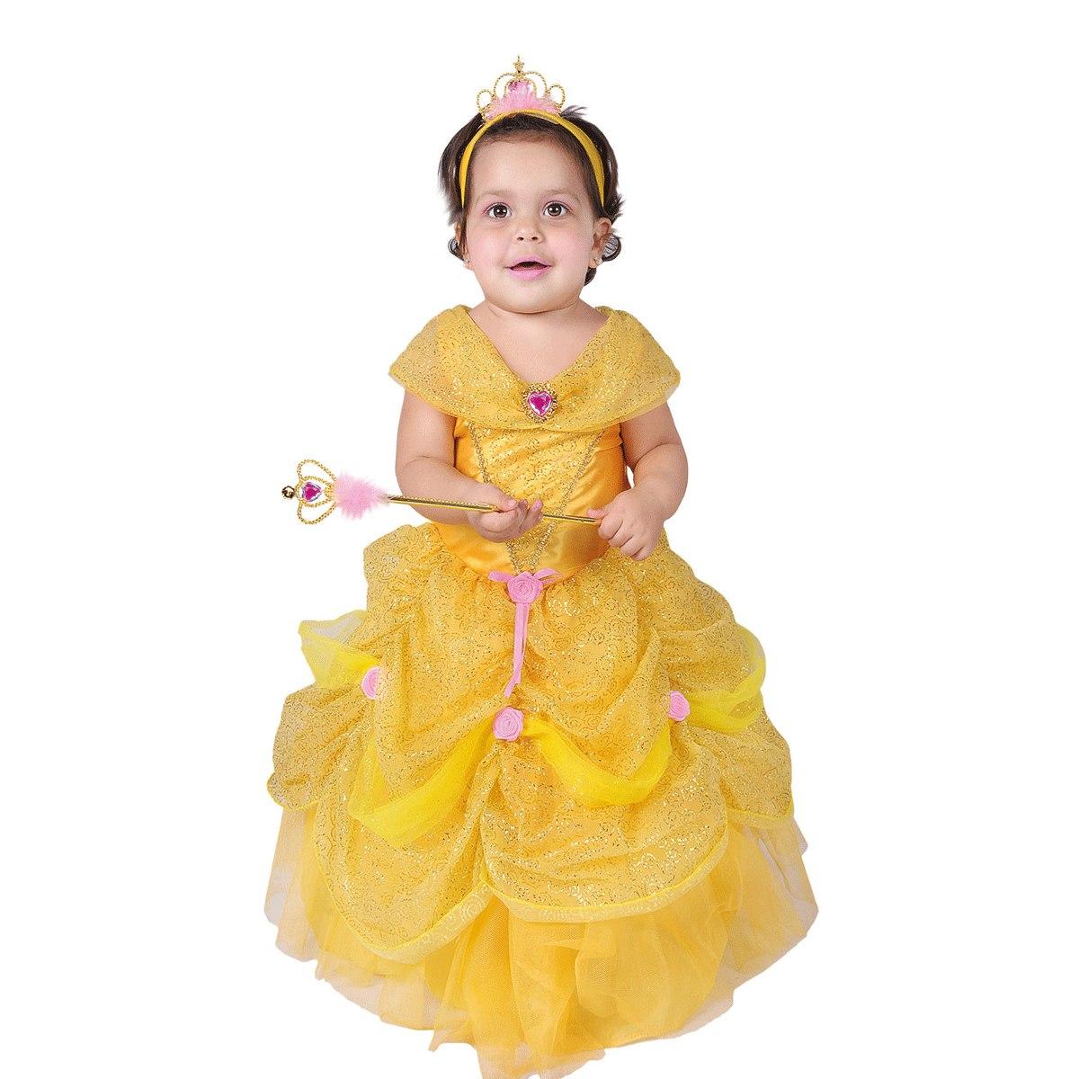 Disfraz princesa bella bebe bs en mercado - Disfraces para bebe nina ...