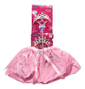 4c49dbb63 Disfraz Princesa Varita Corona Y Pollera Nuevo 6489 Bigshop