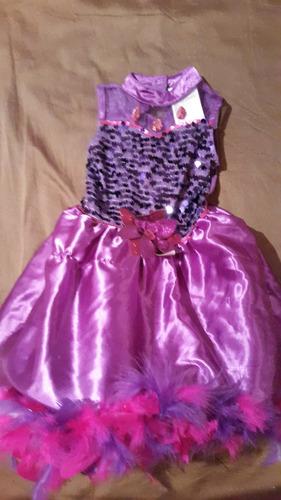 disfraz princesa violeta con armado en la pollera. 4/5 años