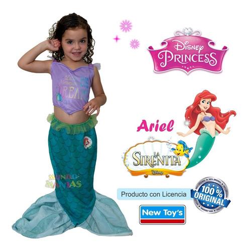 disfraz princesas disney ariel sirenita remera newtoys mania