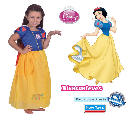 disfraz princesas disney blancanieves newtoys mundo manias