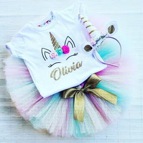 4f7c28d76 Disfraz Remera Personalizada Y Vincha (sin Tutu) Unicornio