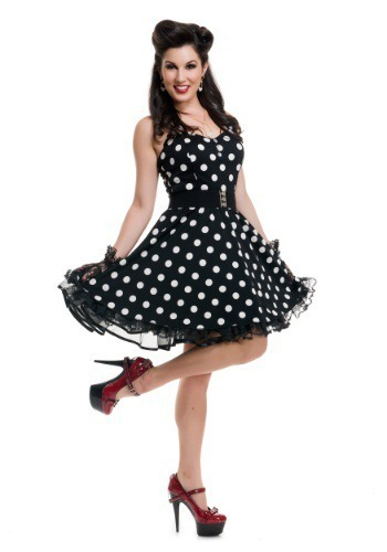 Disfraz Retro 50S 40S Vaselina Pin Up Rock N Roll Damas -8997