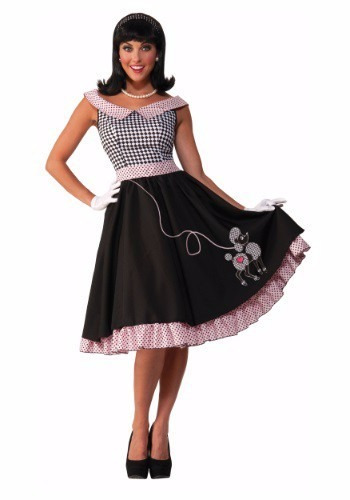 disfraz retro 50's 60's grease vaselina rock n roll damas 2