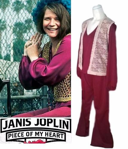 disfraz retro 60s 70s tributo janis joplin grande